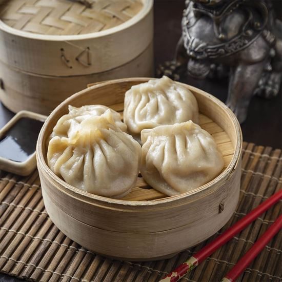 Imagen de Dumplings de Cerdo al Vapor (4 piezas)