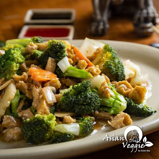 Imagen de Carne Vegetariana Con Brócoli